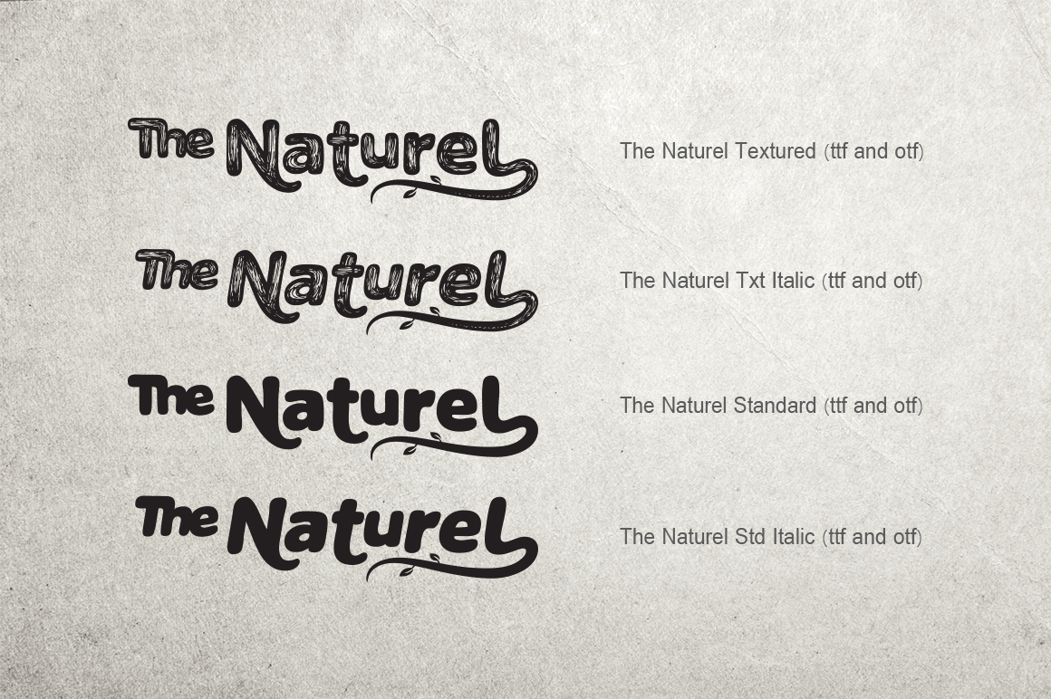 The Naturel Font example image 11