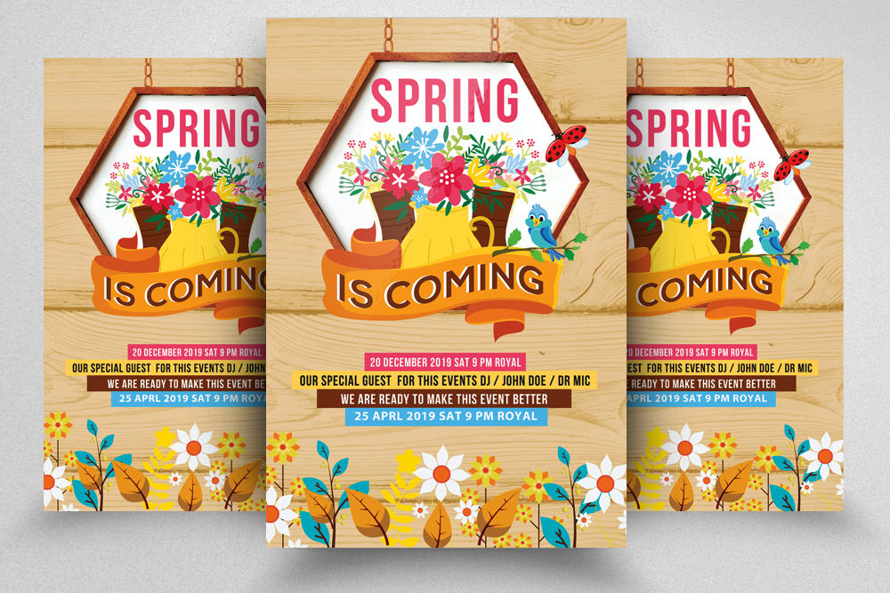 4 Spring Flyers Bundle example image 4