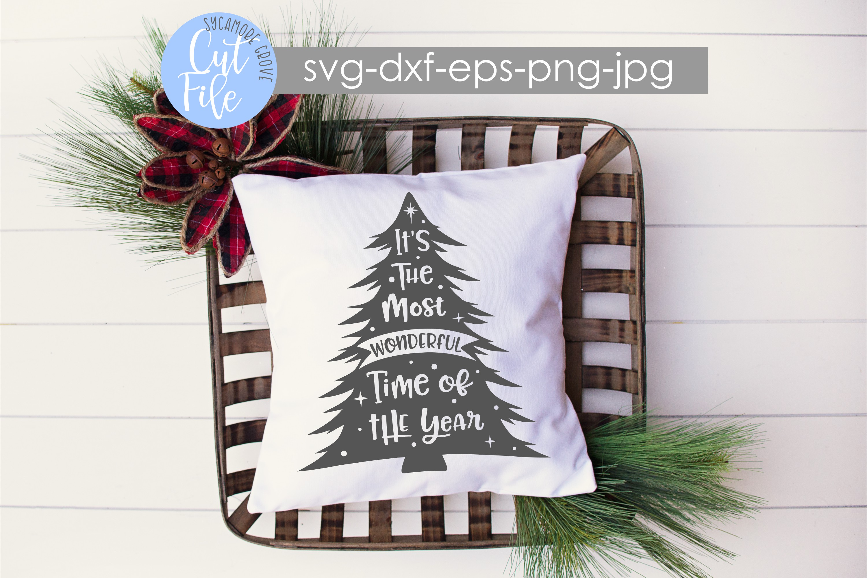 It's The Most Wonderful Time Of The Year | Christmas SVG example image 1