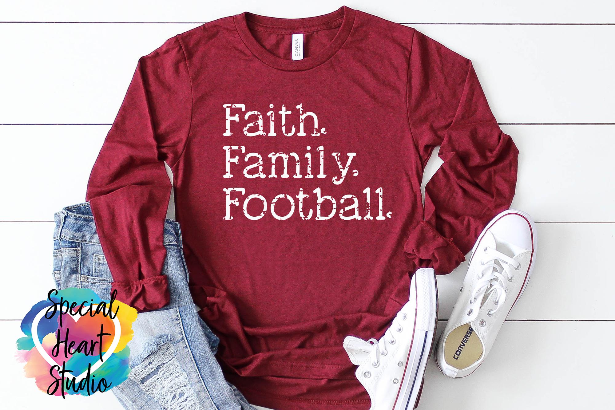 Faith. Family. Football. - A fall football Fan SVG Cut file example image 1