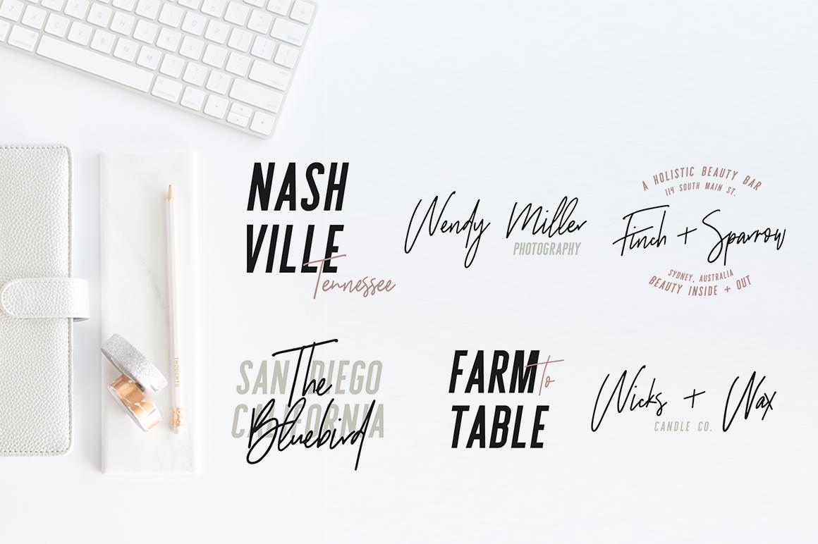 Sydney | Font Duo + 12 Free Logos example image 6