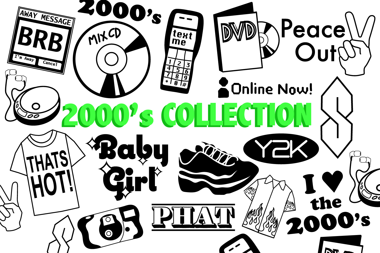 2000's SVG Collection example image 1