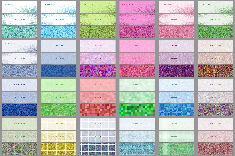 90 mosaic banner template designs (AI, EPS, JPG 5000x5000) example image 2