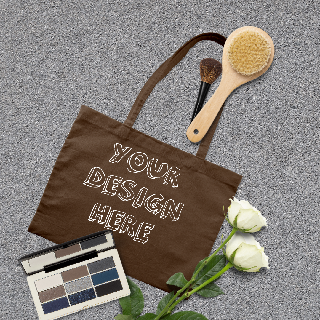 MEGA Bundle|Tote Bag Mockups with White Roses & Makeup Brush example image 3