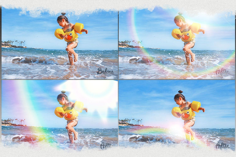 Rainbow overlays & textures, rainbow action, rainbow preset example image 5