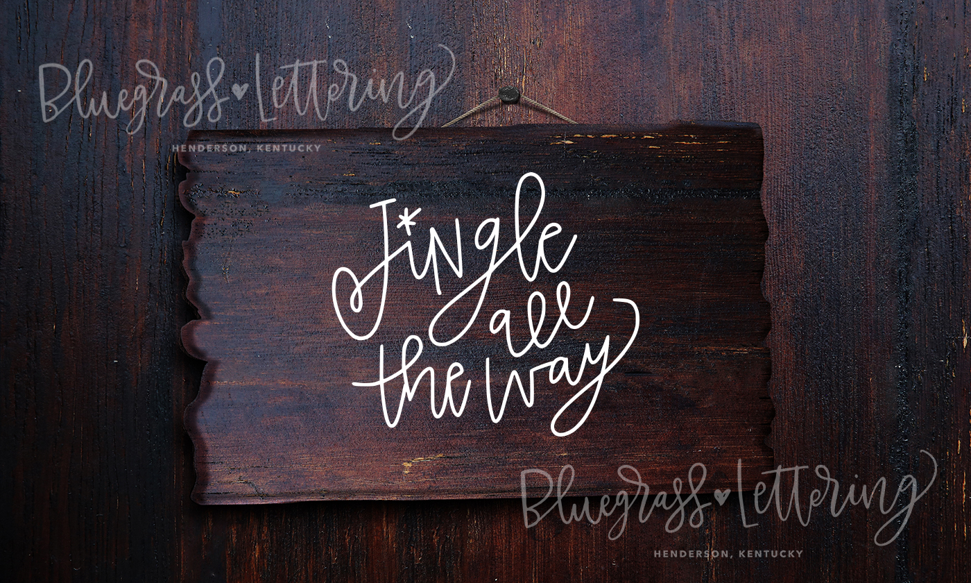 Handlettered Christmas SVG Pack example image 5