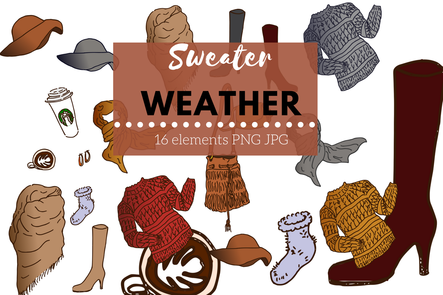 Sweater Weather Clip Art example image 2