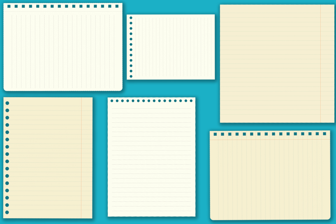 Notebook paper set example image 8