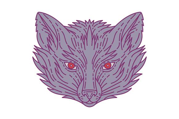 Fox Head Mono Line example image 1