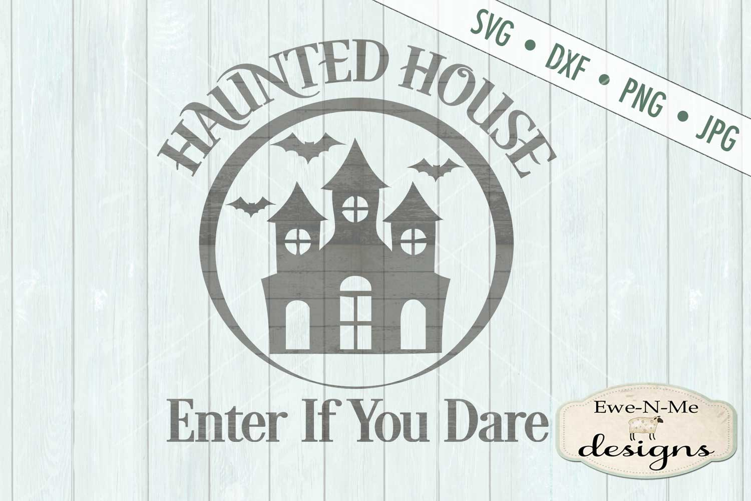 Haunted House Enter If You Dare SVG DXF Files example image 2