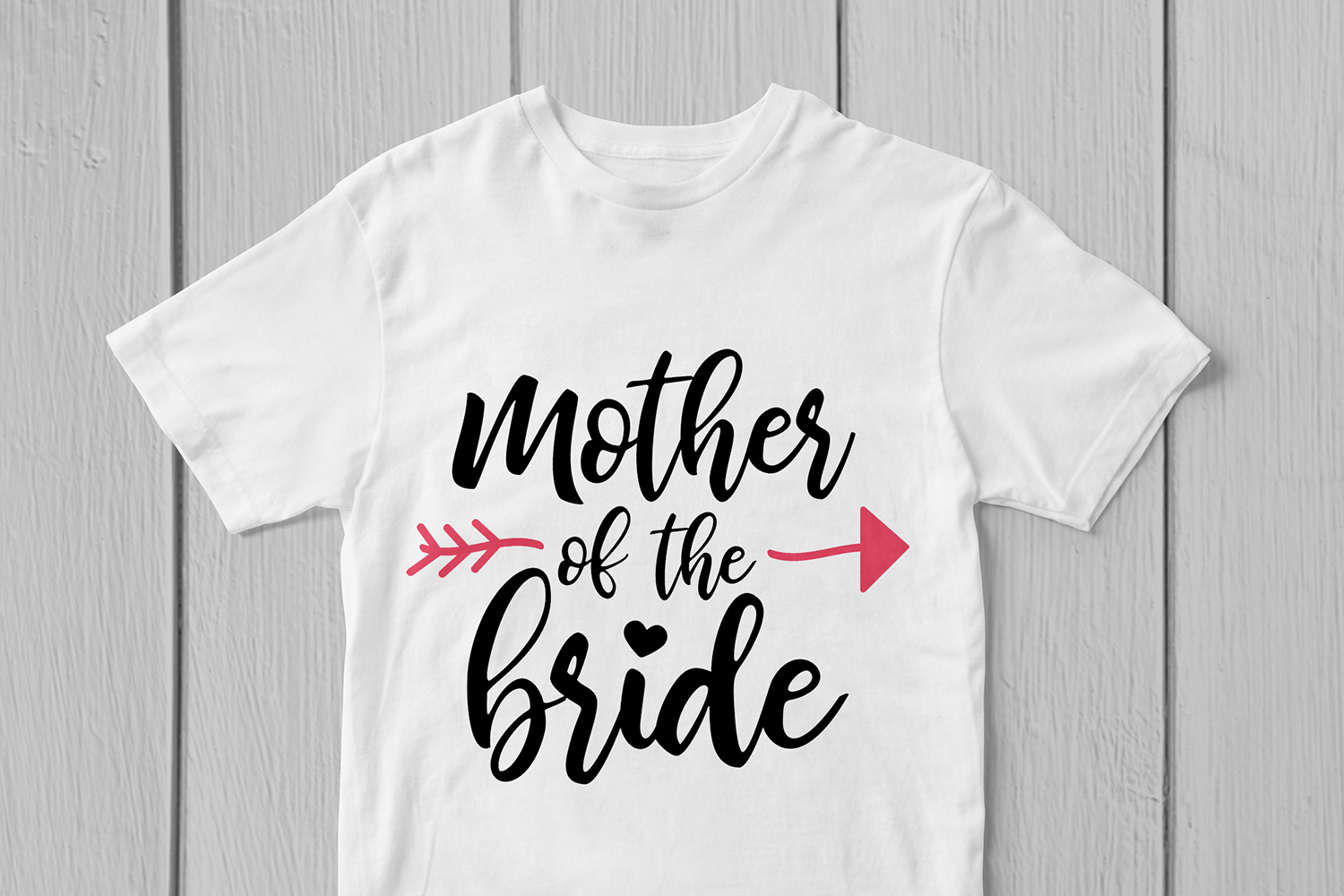 Mother Of The Bride - Wedding SVG EPS DXF PNG Cutting Files example image 3