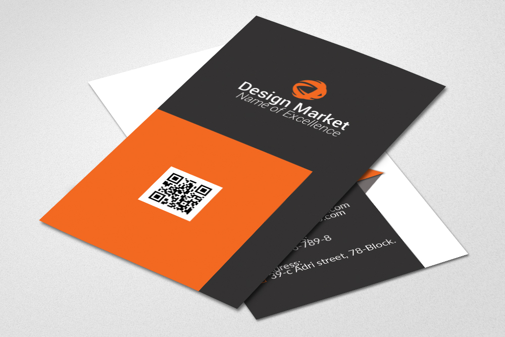 Professional Vertical Business Cards example image 3