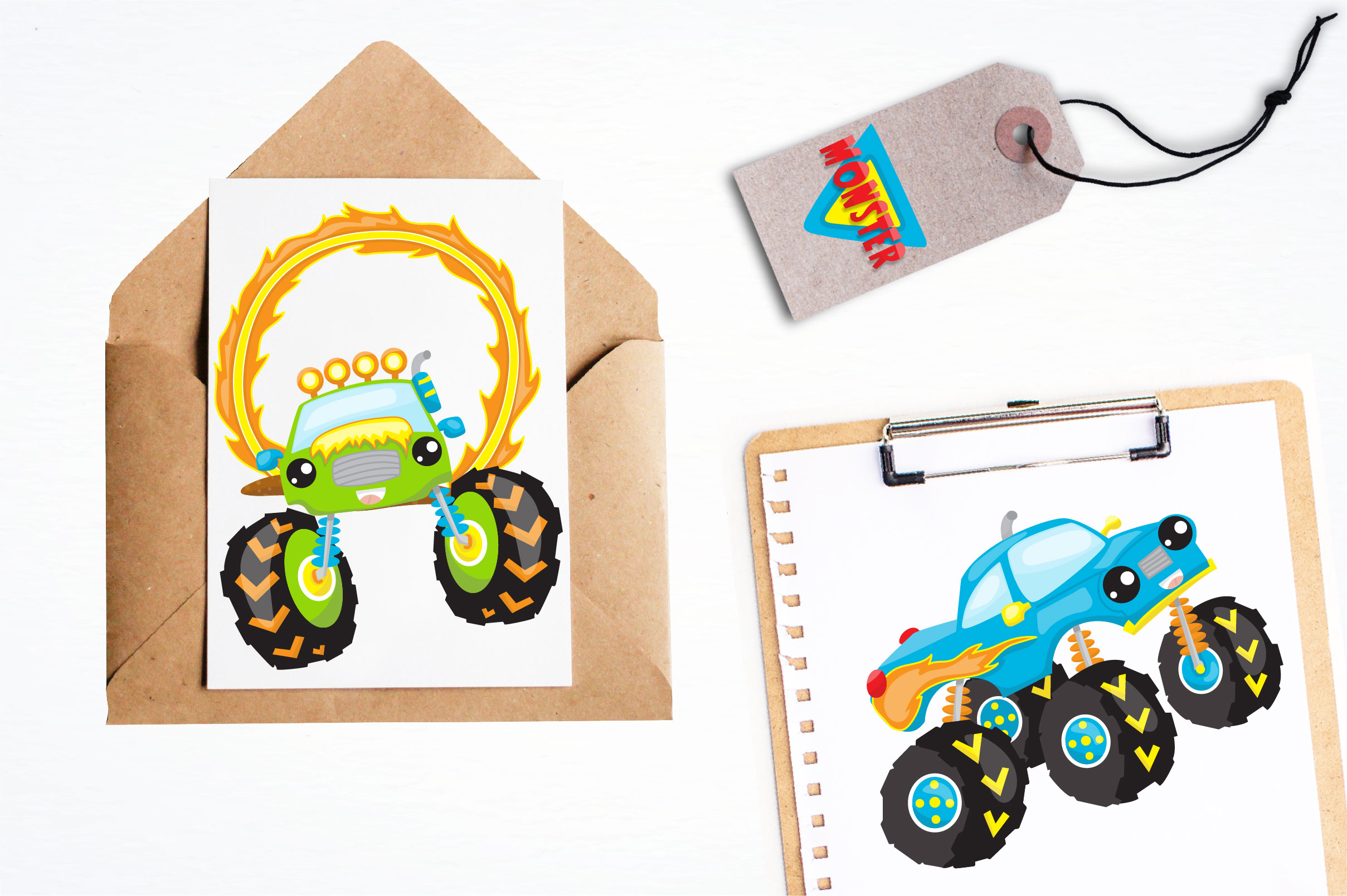 Monster truck graphics and illustrations example image 4