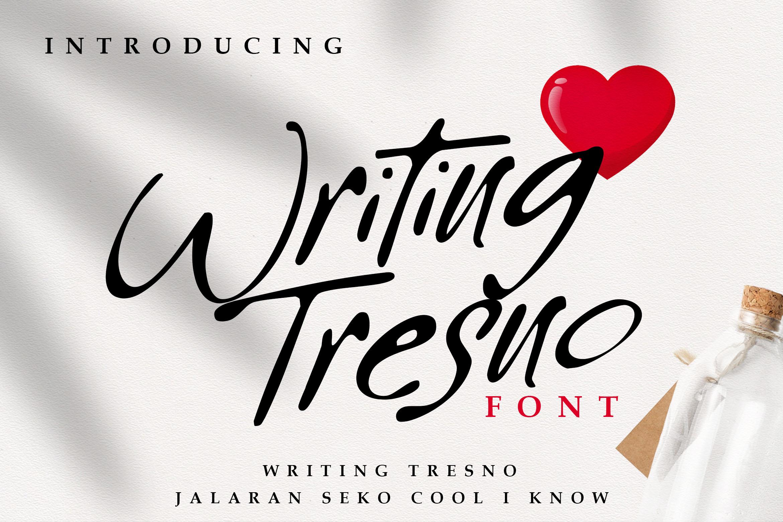 Writing Tresno example image 1