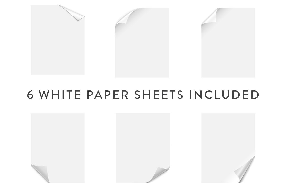 Curling Paper Corner Folds Set example image 3