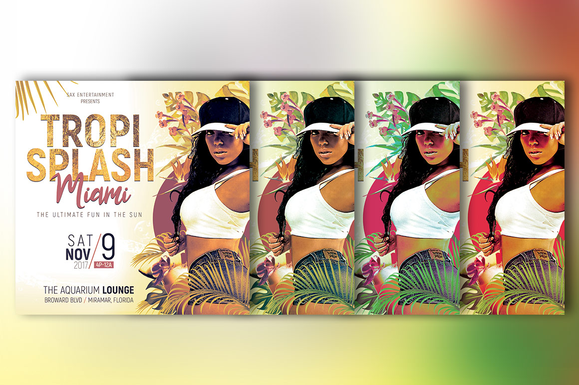 Tropical Party Small Flyer Template example image 6