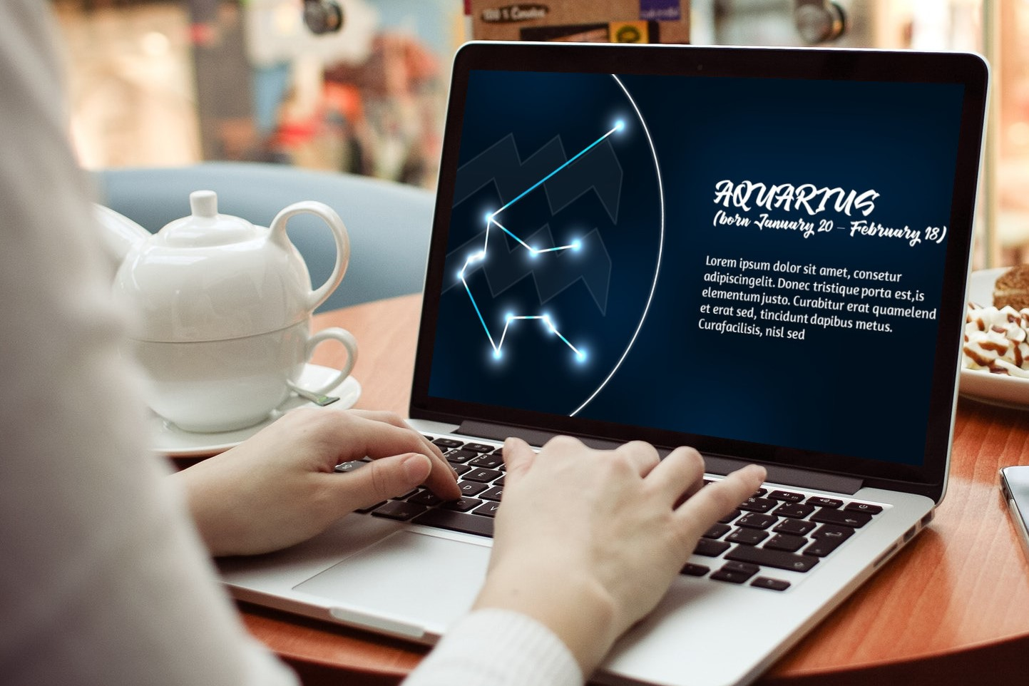 Zodiac Powerpoint Template Style 1 example image 4