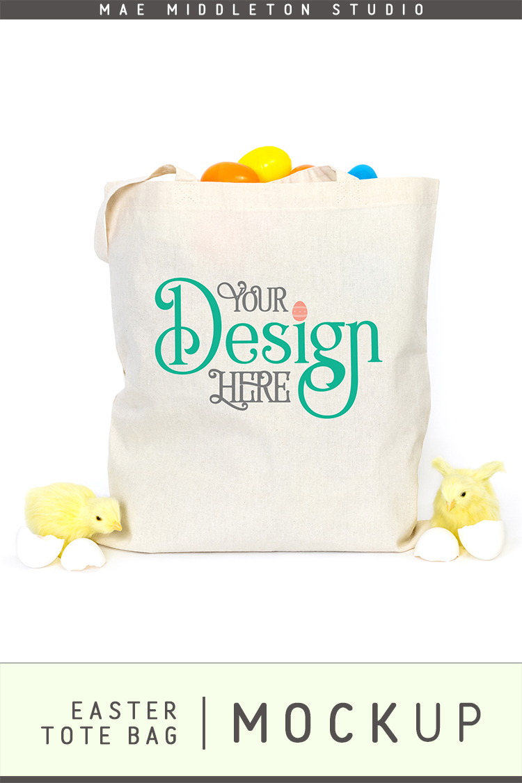 Tote Bag mock up for Easter example image 3