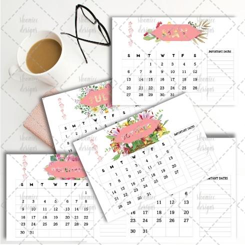 2018 Desk Calendar example image 1