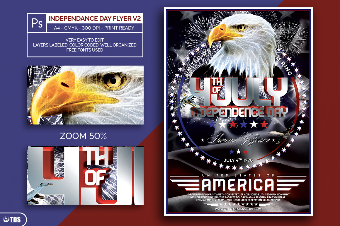 Independence Day Flyer Template V2 example image 2