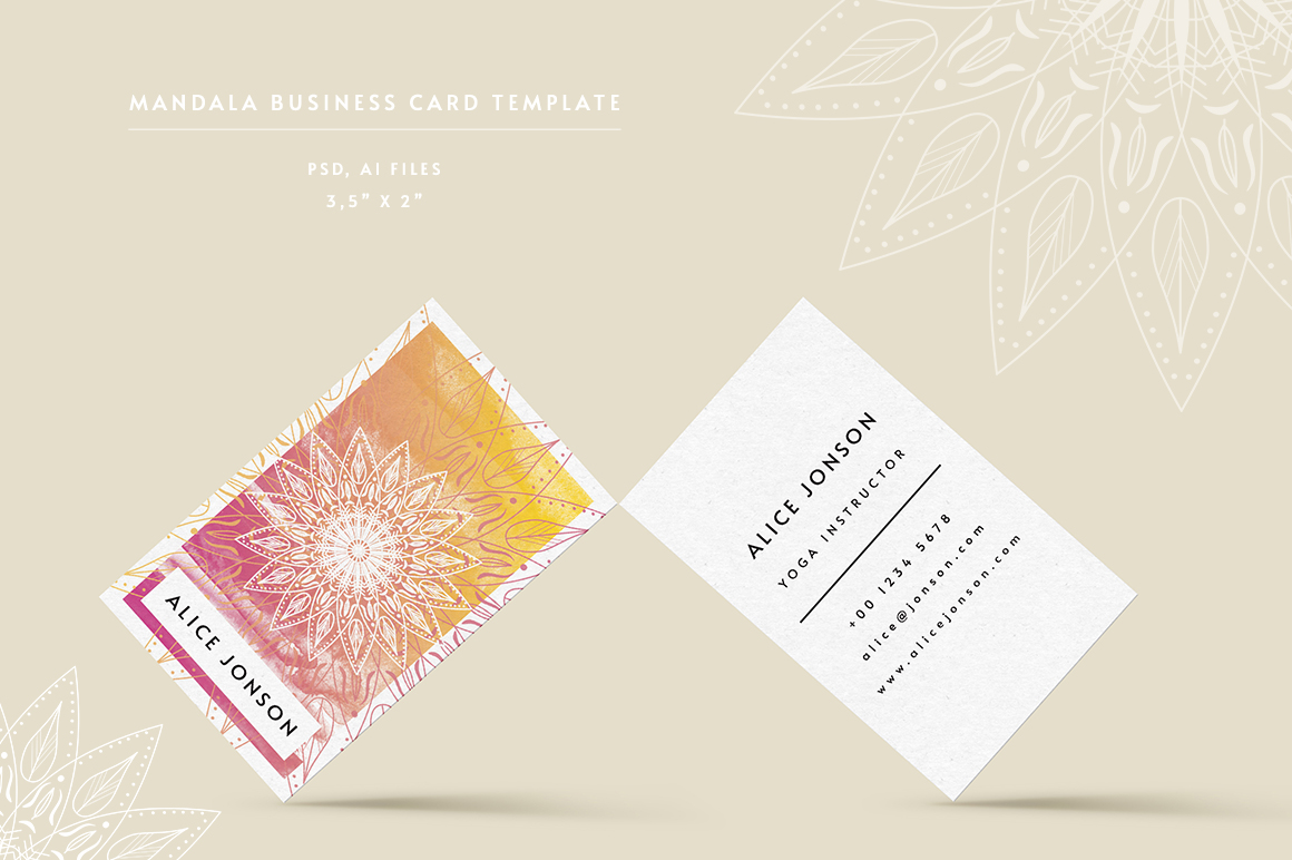 Mandala Business Card Template example image 1