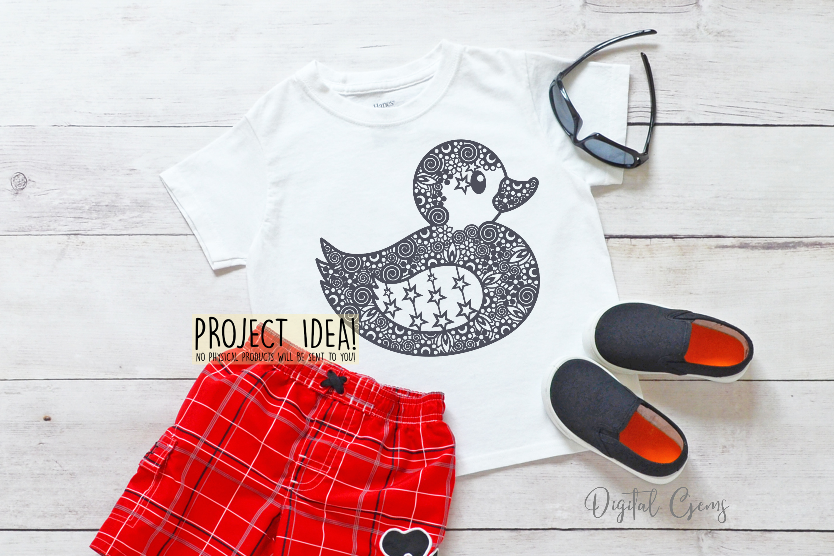 Duck paper cut design. SVG / DXF / EPS / PNG files example image 6