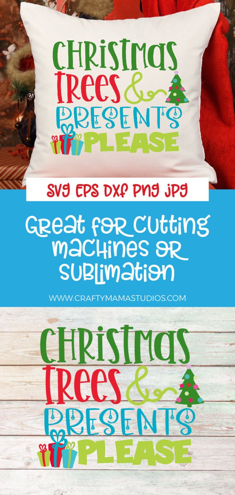 Christmas Trees And Presents Please SVG, Christmas SVG example image 3