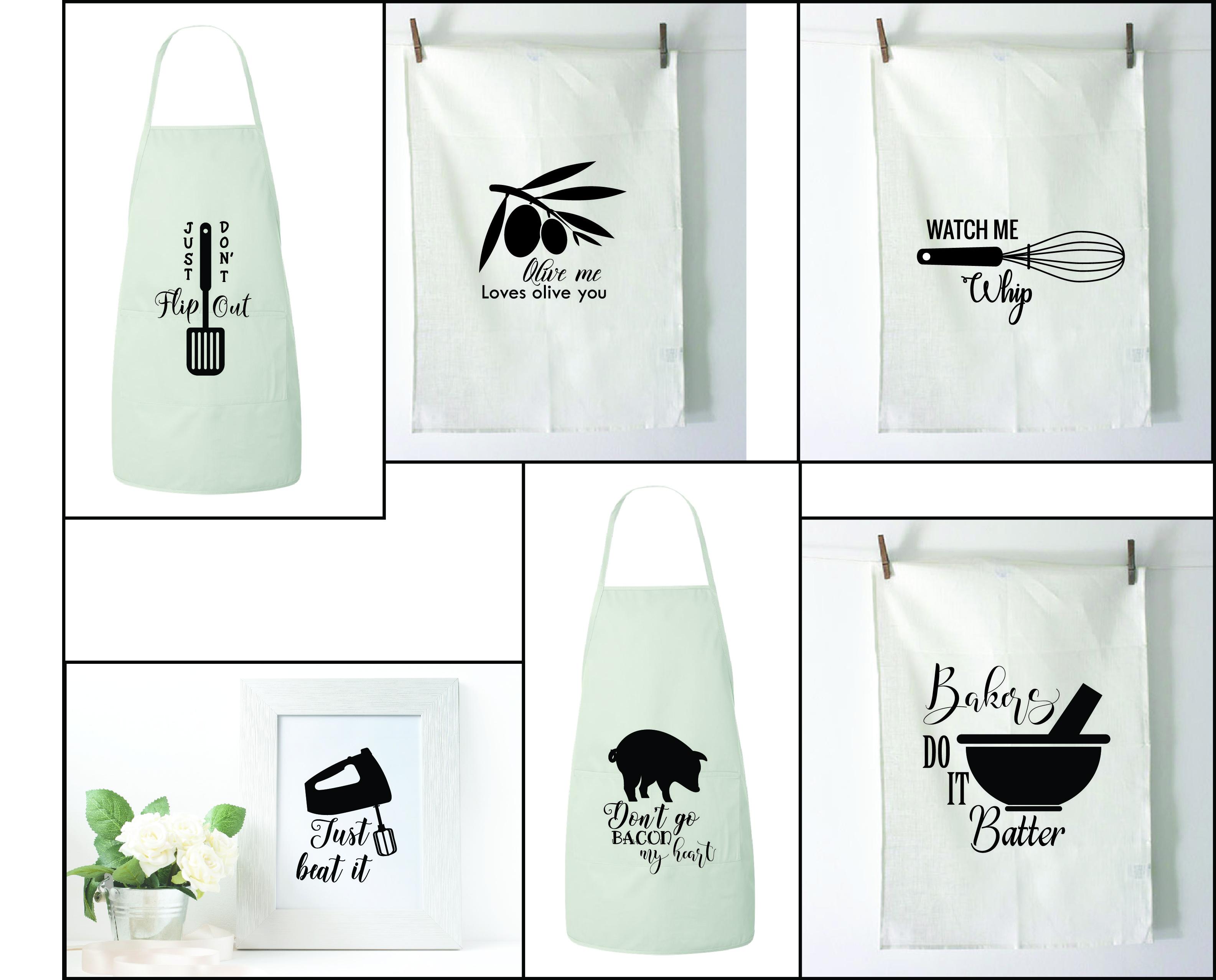 Kitchen SVG Bundle, Kitchen Towel Designs example image 2