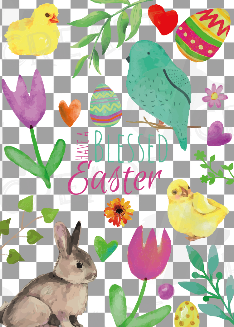 Easter greeting cards, 6 Happy Easter cards, colorful cards example image 8