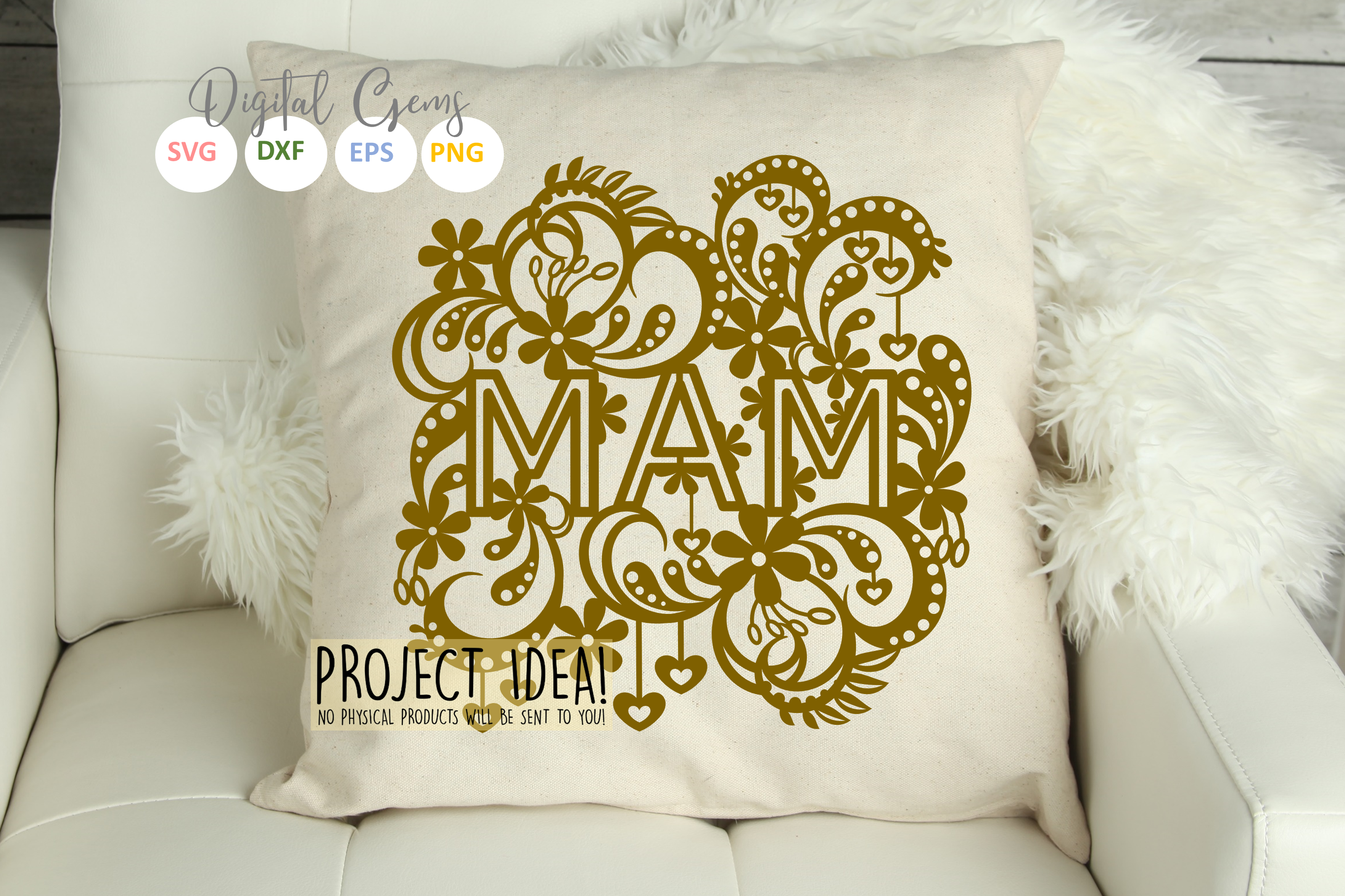 Mam paper cut design SVG / DXF / EPS files example image 4