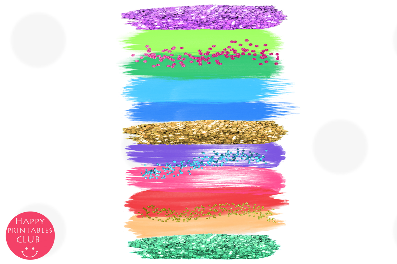 Back to School Brush Strokes Clipart-Back to School Brushes example image 3