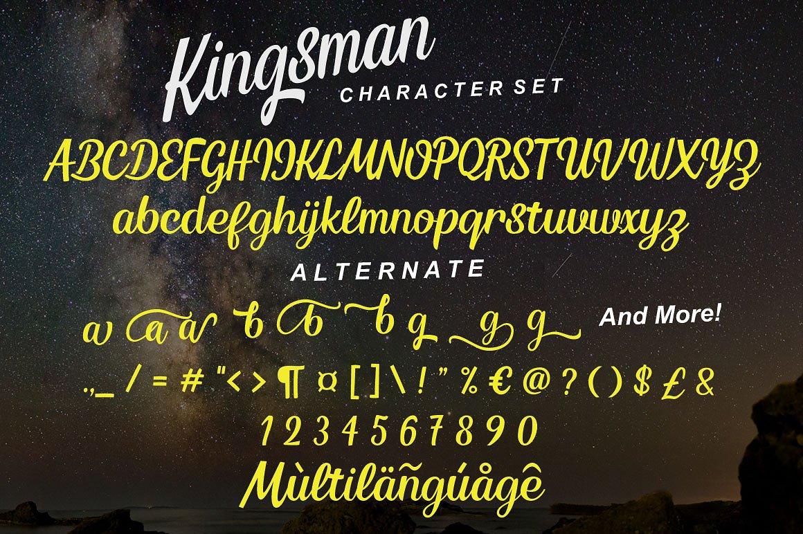 Kingsman Script example image 9