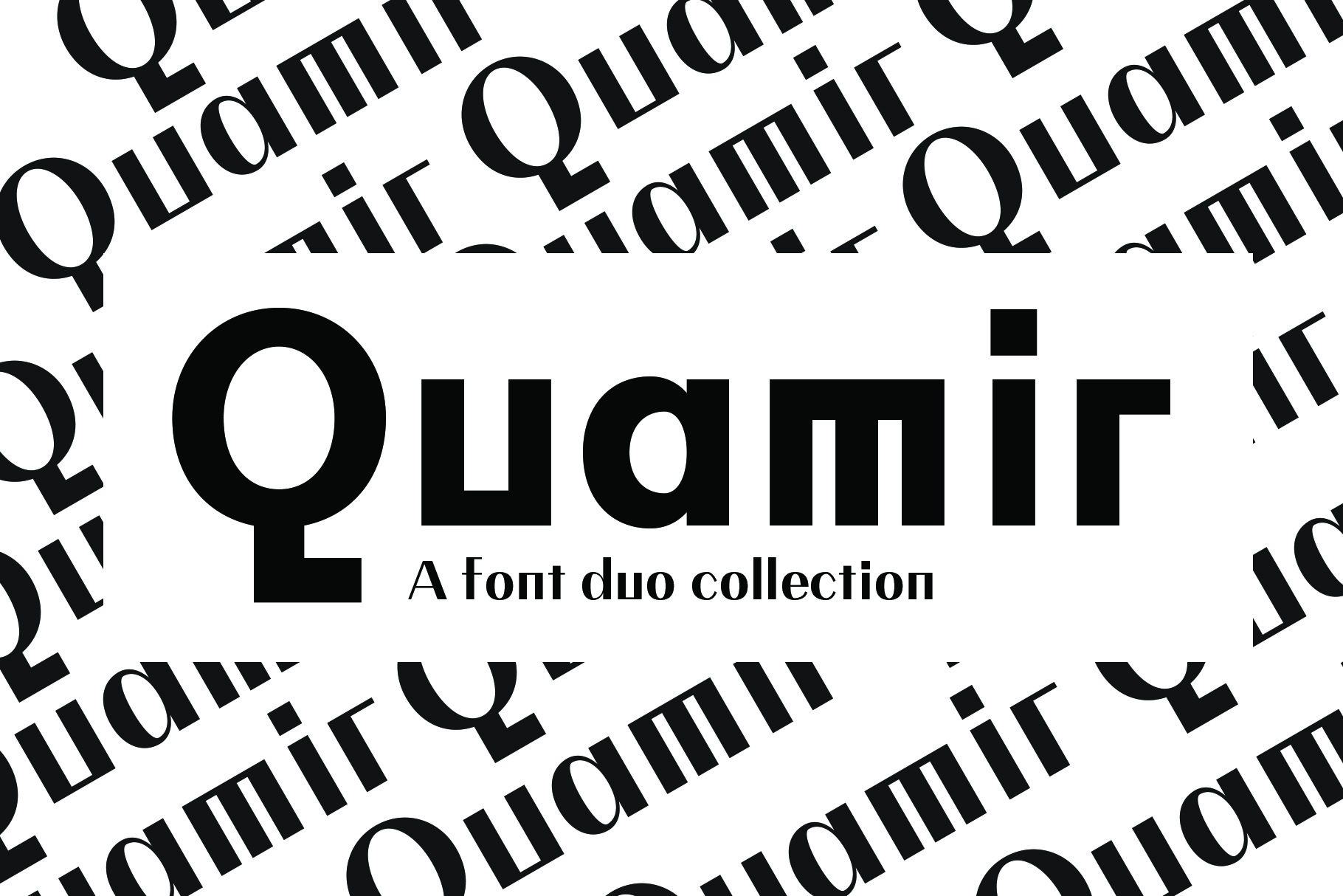 QUAMIR, A Display Font Duo example image 1
