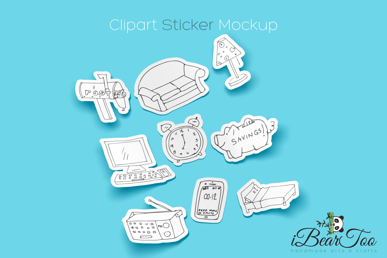 Furniture SVG Bundle Clipart Home Doodle Vector Cut Files example image 3