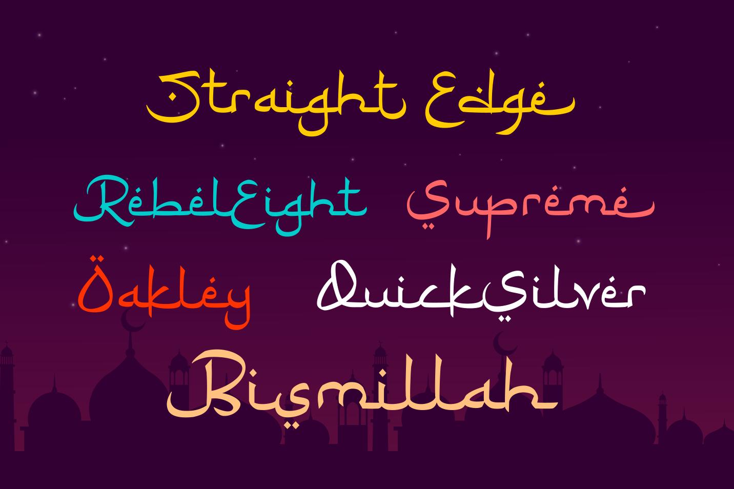 Ramadhan Karim - Arabic Fauxlang Font example image 5