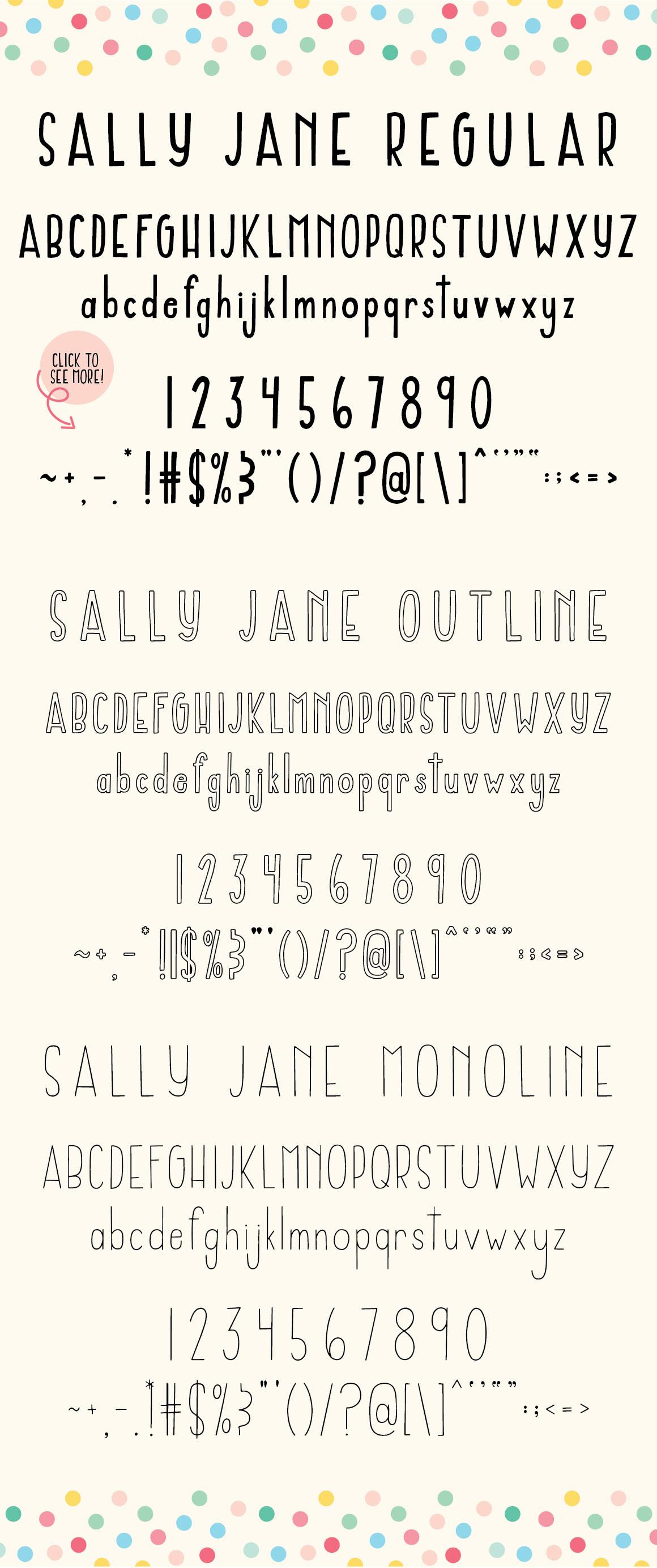 Sally Jane San Serif Font Trio example image 4