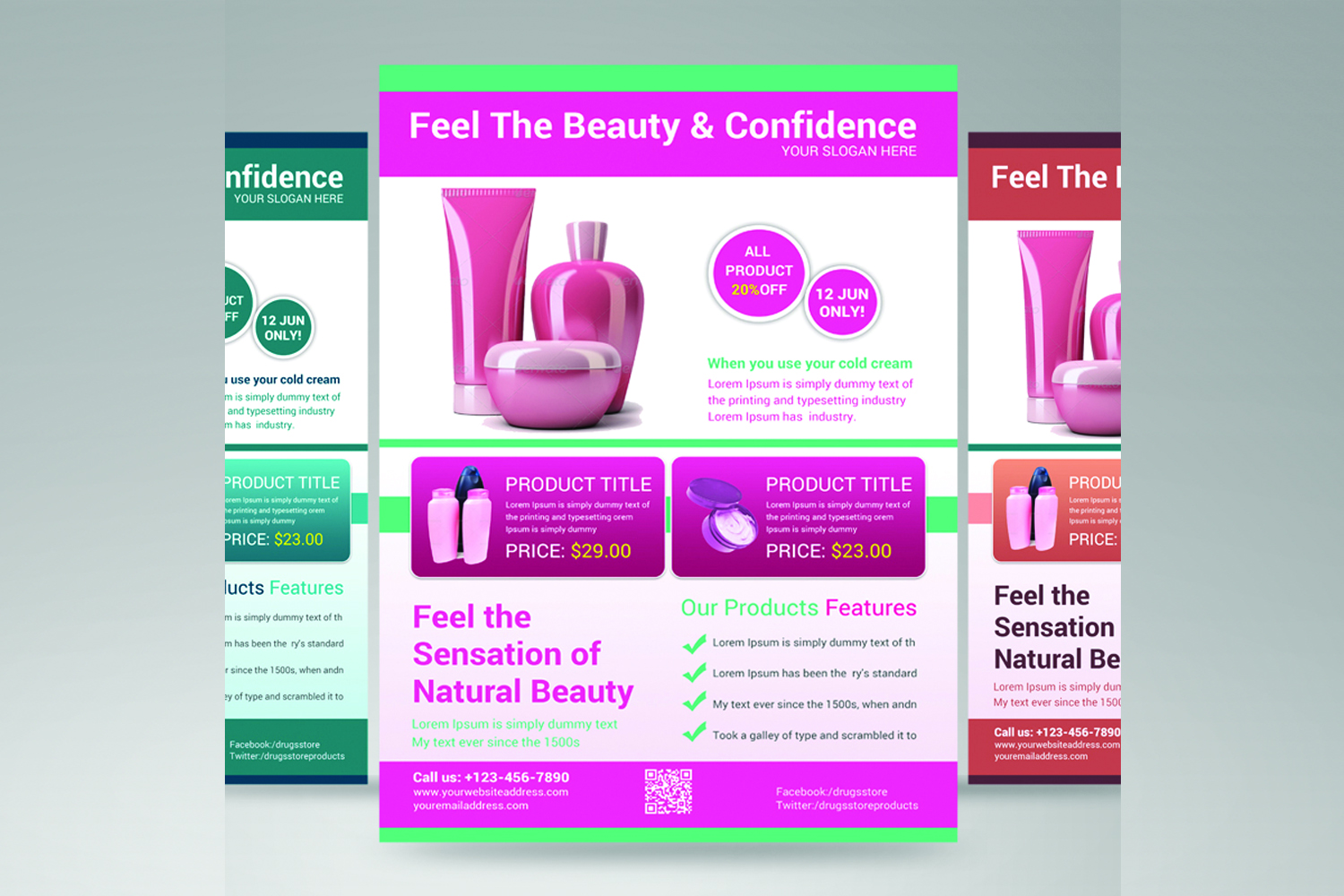 beauty product flyer