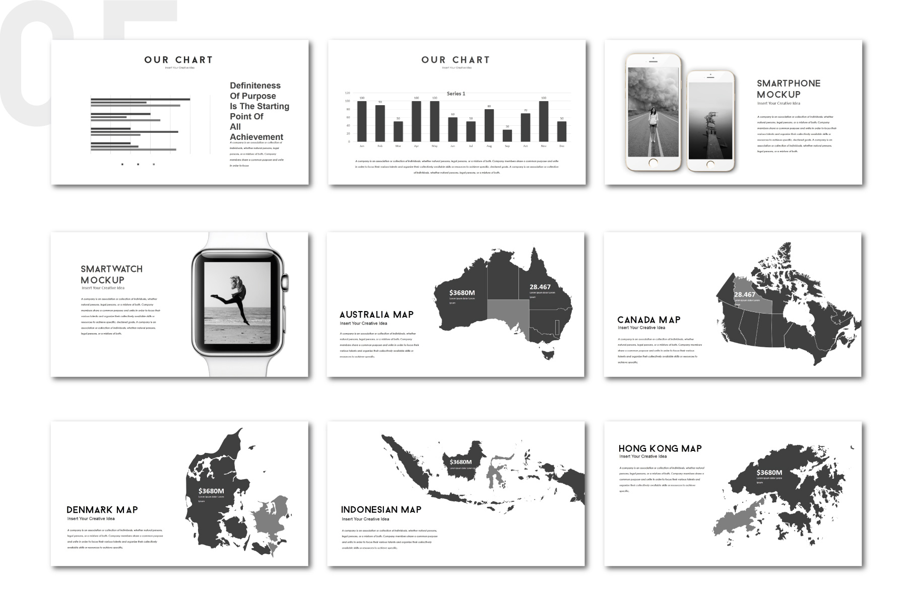 Darkness Multipurpose PowerPoint Templates example image 5