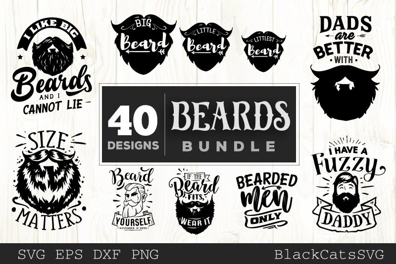 Beards SVG bundle 40 designs example image 3