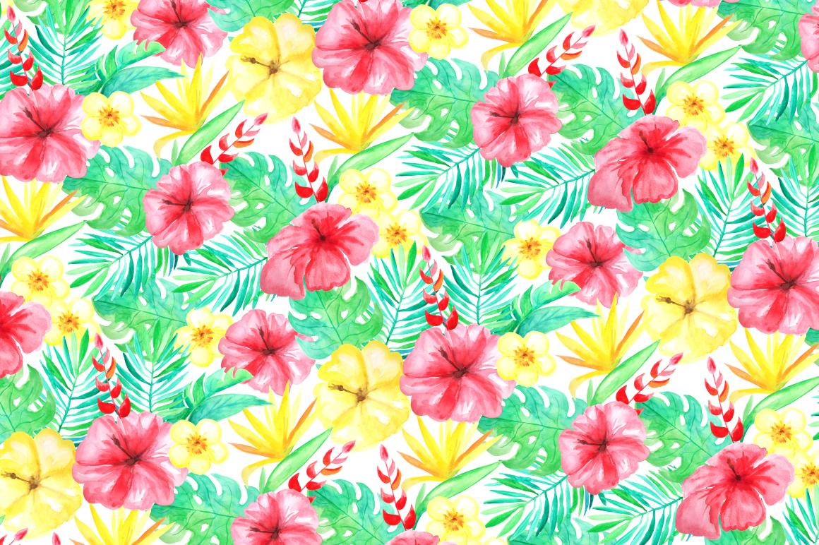 Watercolor Tropical Mini Set example image 3