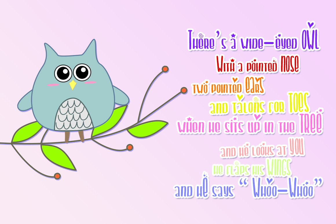 Chiko & Owlie - Extra Cute Graphic example image 7