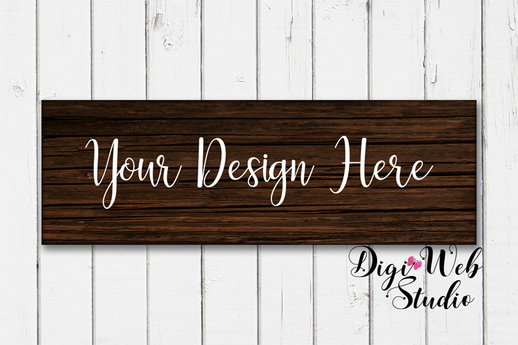 Wood Signs Mockup Bundle - 9 Piece Farmhouse Wood Signs 2 example image 3