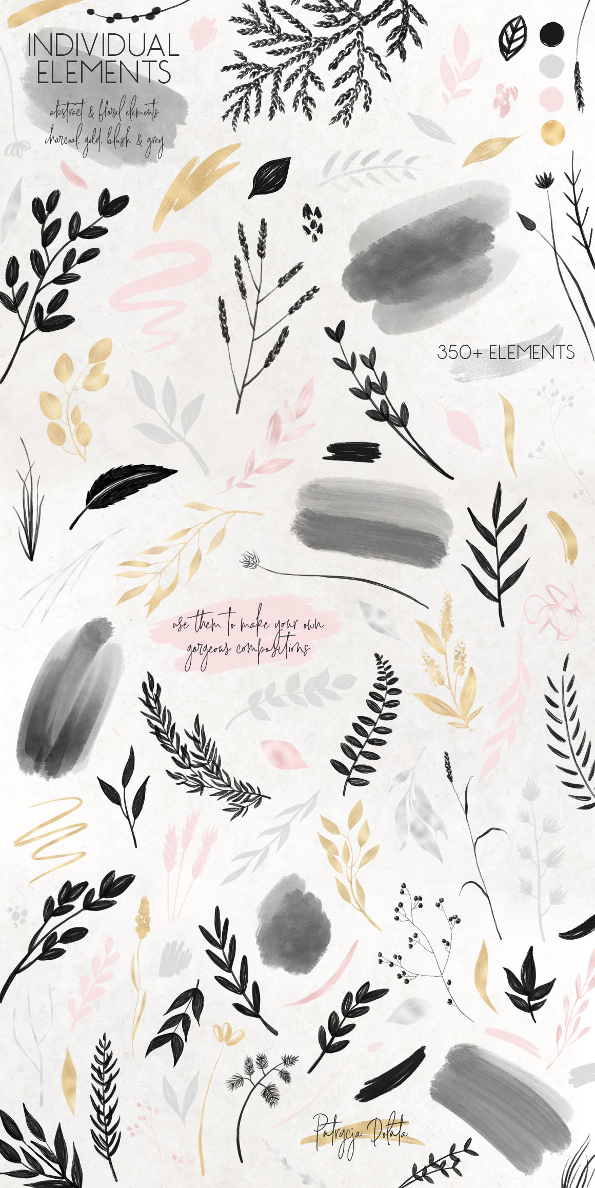 Charcoal, Gold & Blush Collection example image 9