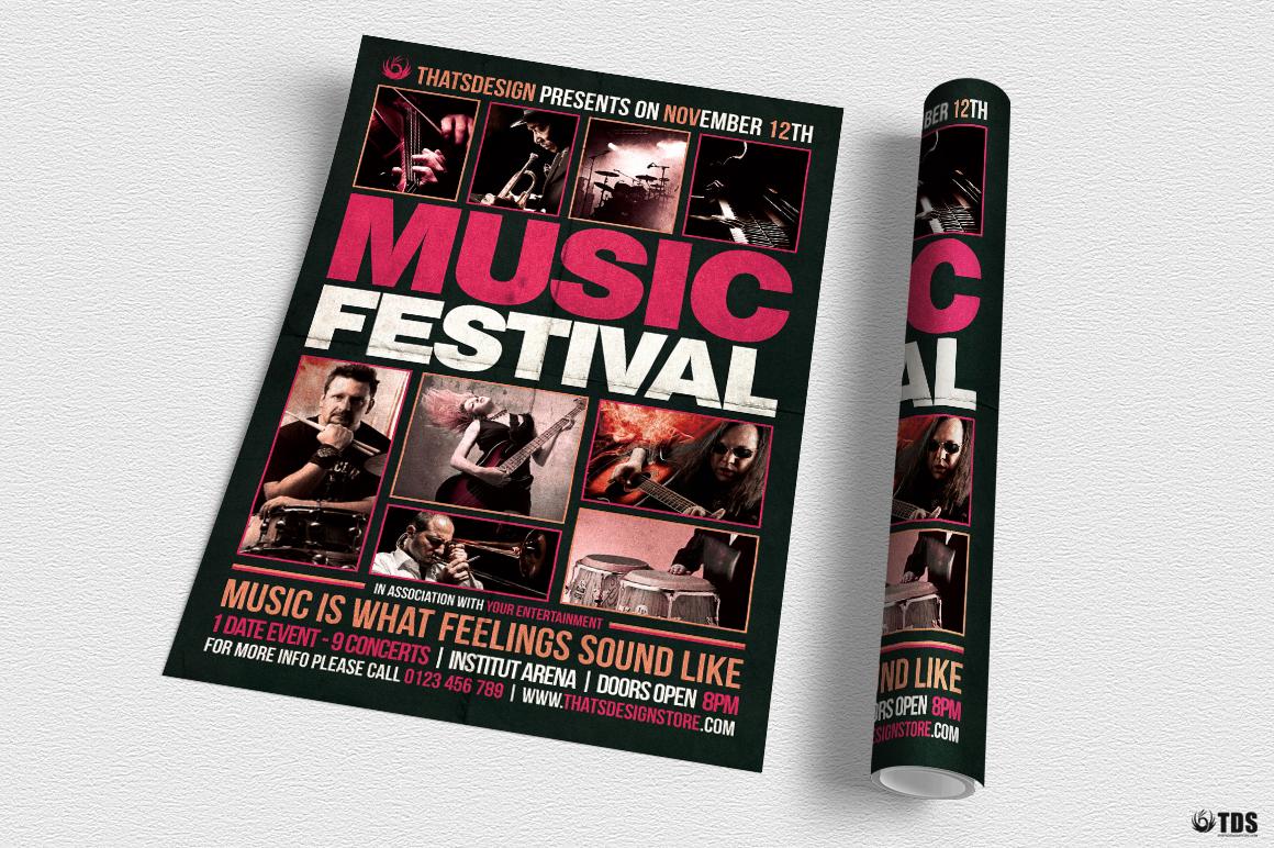 Music Festival Flyer Template V18 example image 6