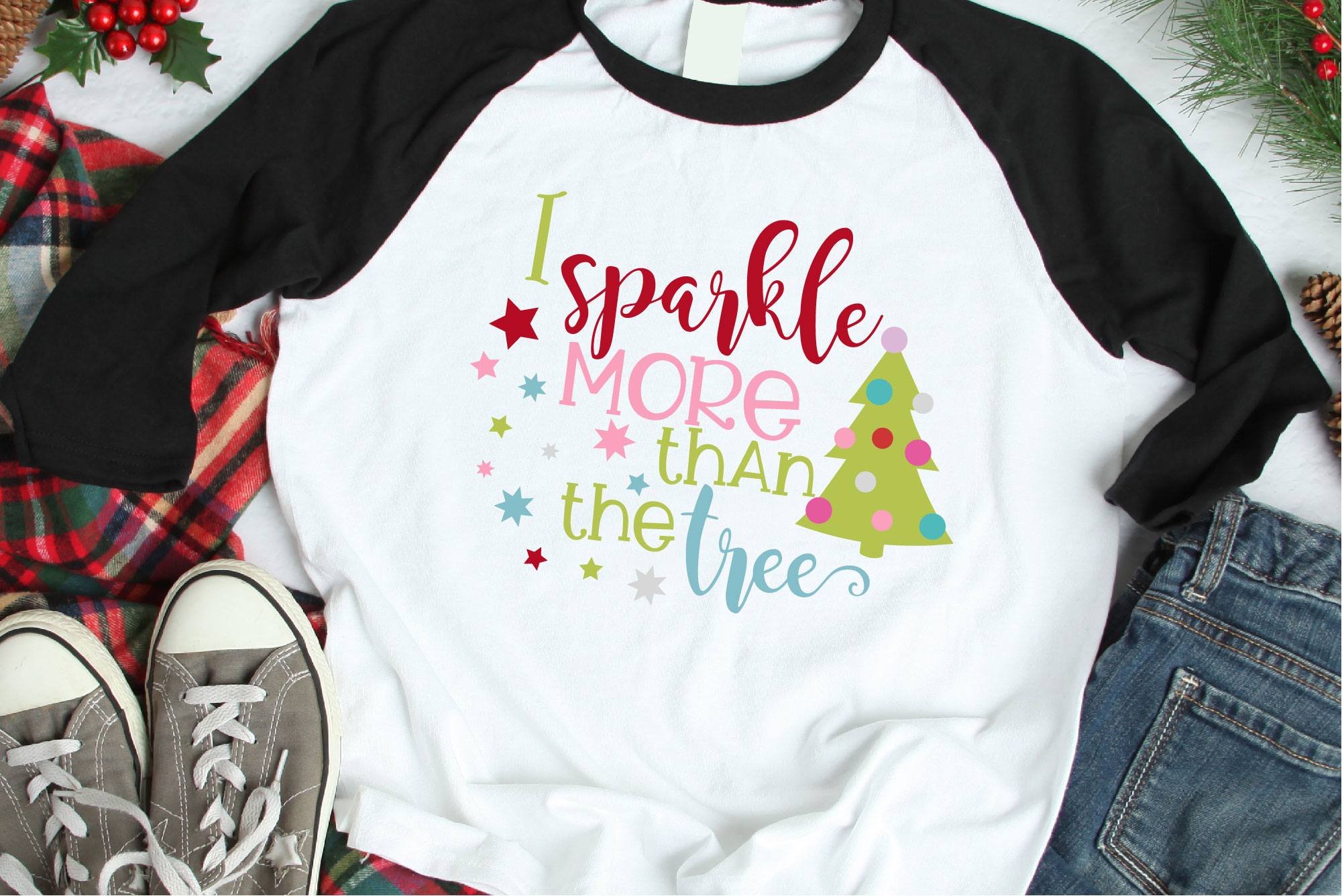 I Sparkle More Than The Tree SVG, Christmas Sublimation example image 1