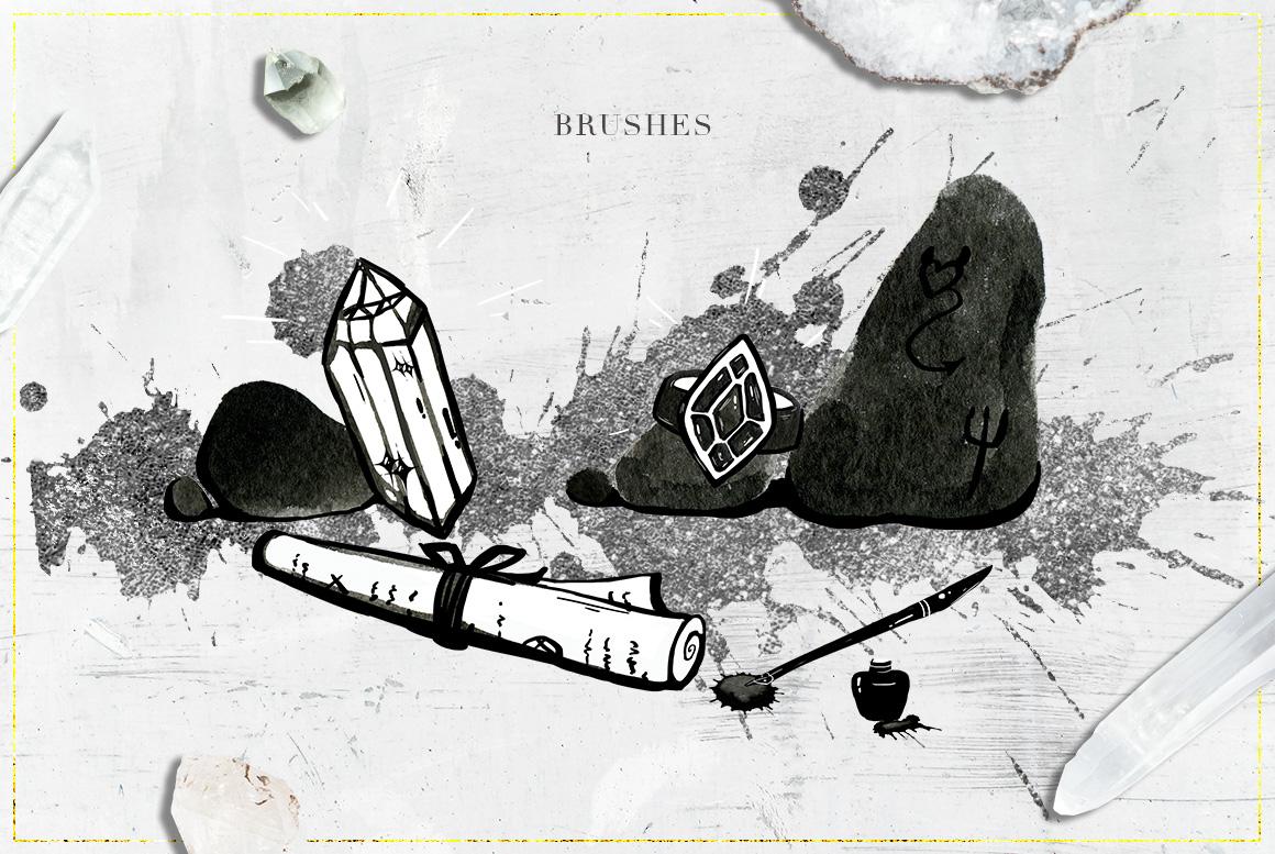 75 Witchcraft Photoshop Brushes example image 9