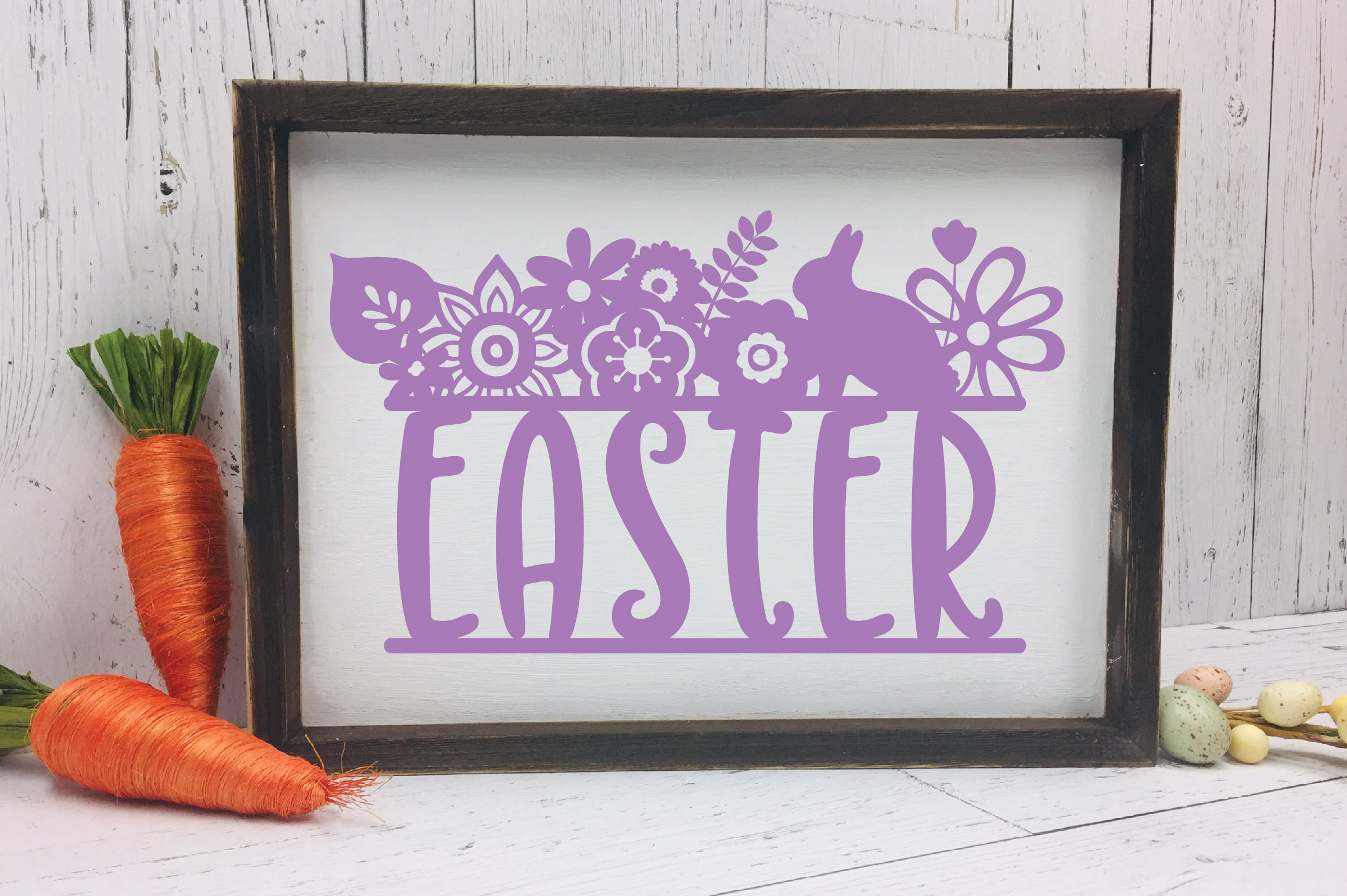 Easter SVG Cut File - Easter Floral SVG DXF EPS PNG AI example image 3