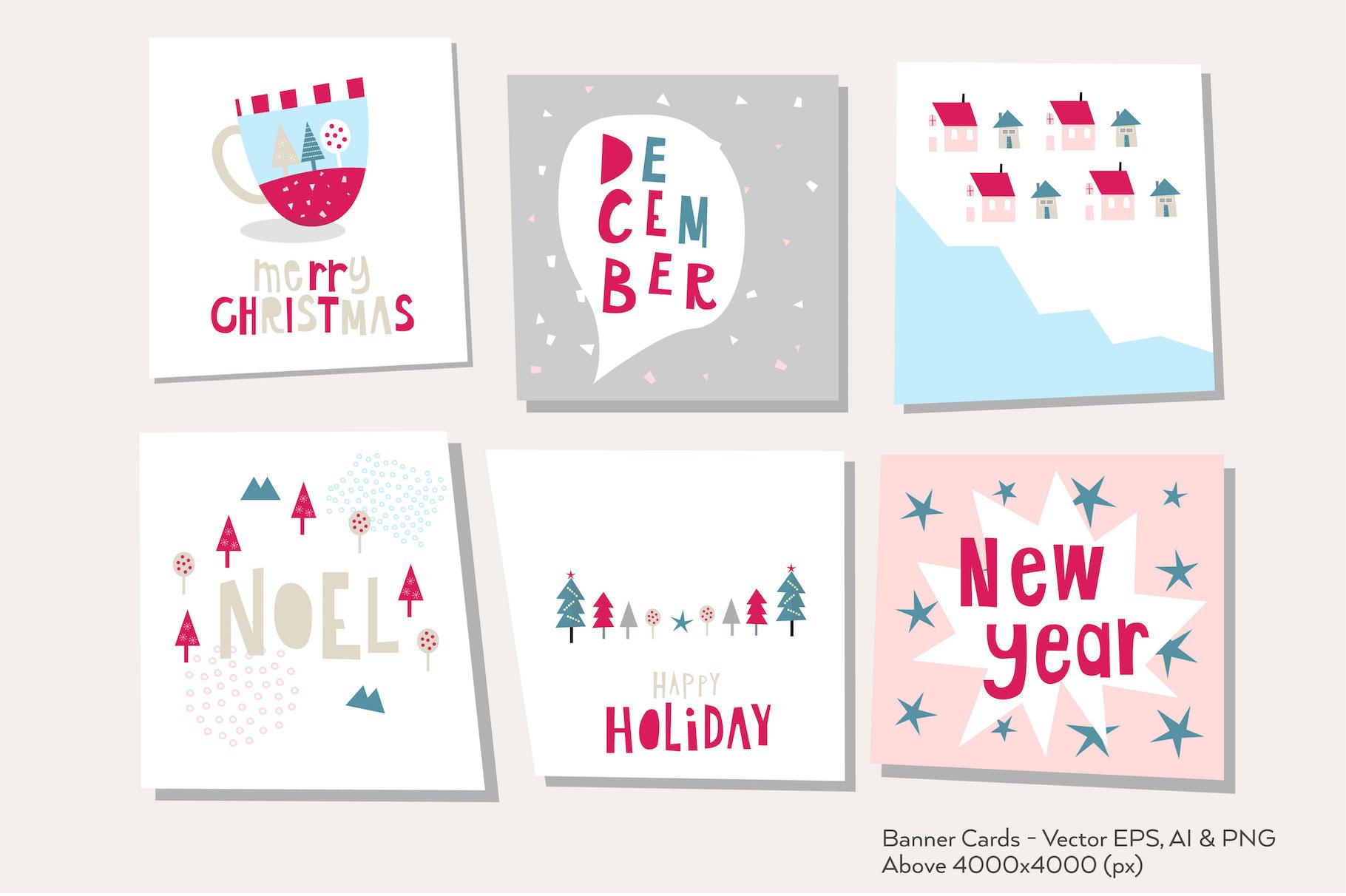 Happy Flat Holiday! Design Kit example image 2