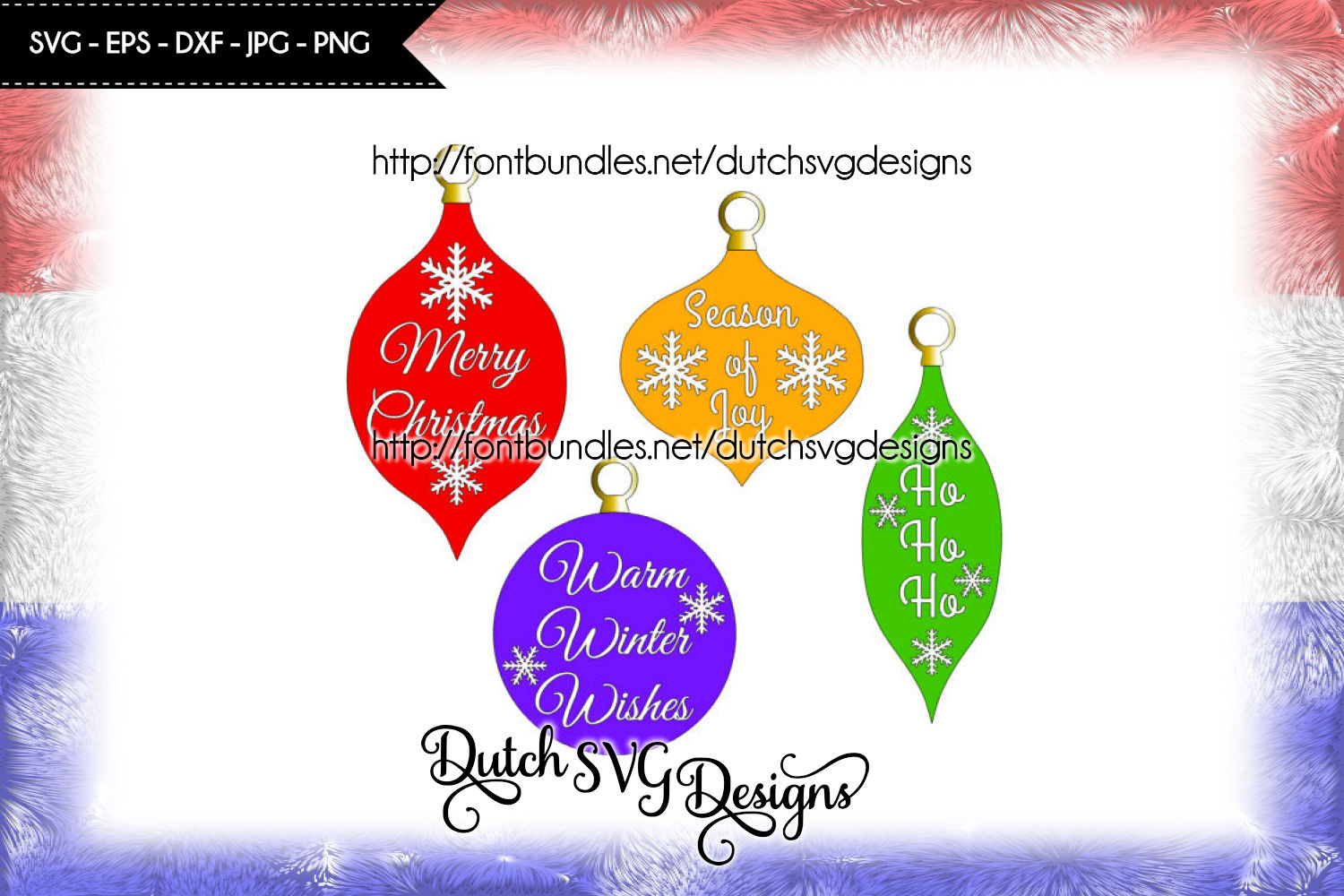 Christmas ornaments cut files, christmas svg, ornament svg example image 1