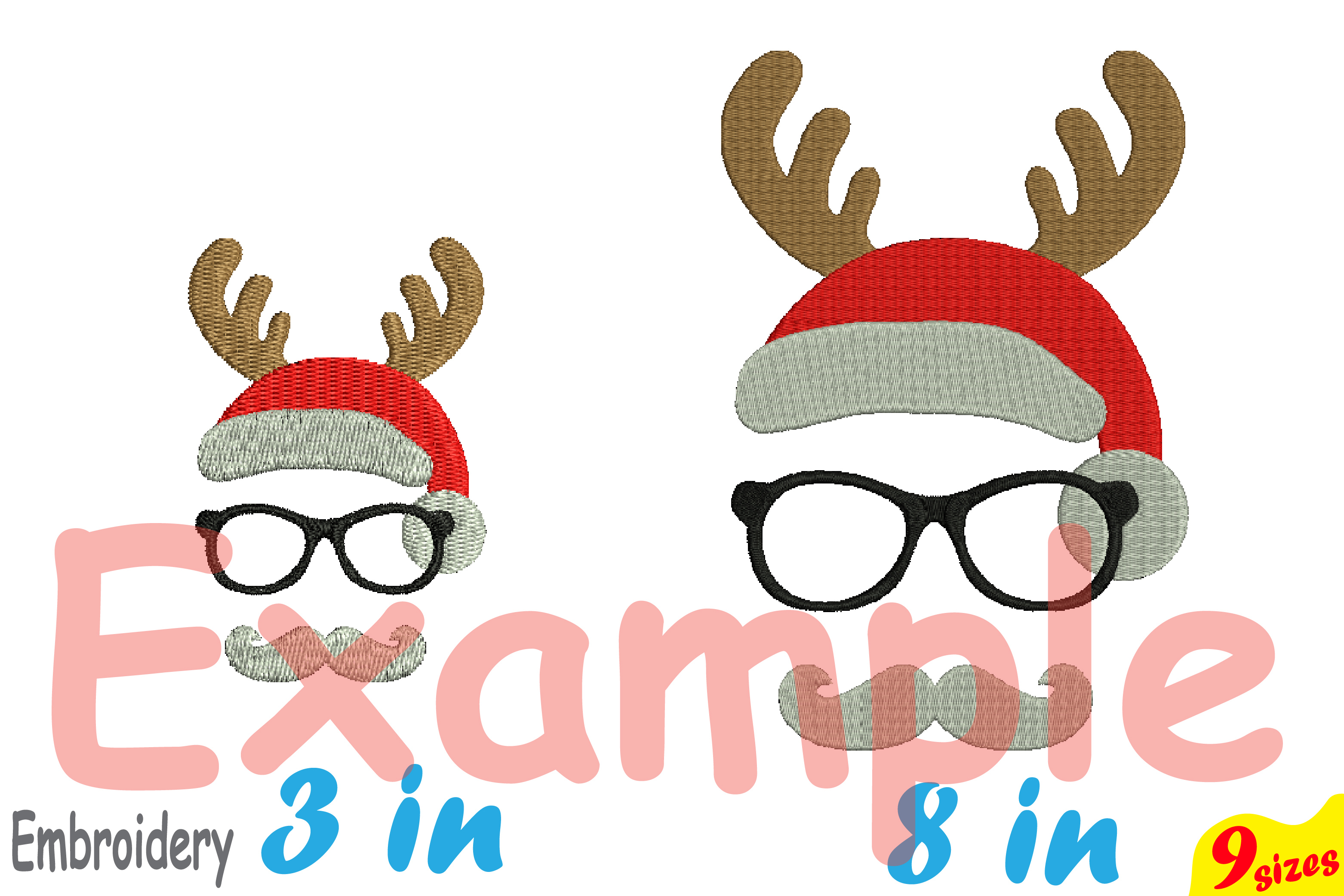 Christmas Designs For Embroidery Machine Instant Download Commercial Use Digital File 4x4 5x7 Hoop Icon Symbol Sign Strings Santa Claus 91b 50582 Embroidery Design Bundles